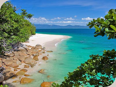 View of Nudey Beach - Courtesy of http://www.fitzroyislandcairns.com