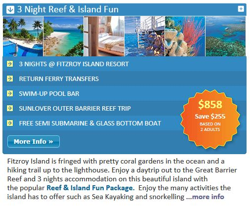 Fitzroy Island Package